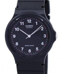 카시오 클래식 아날로그 쿼츠 블랙 레진 MQ-24-1BLDF MQ24-1BLDF 남성용 시계