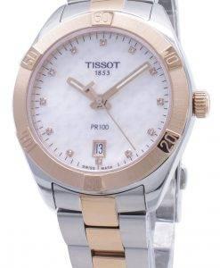 티쏘 T-Classic PR100 T101.910.22.116.00 T1019102211600 다이아몬드 악센트 여성용 시계