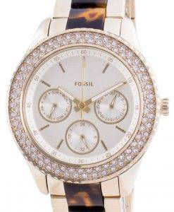 Fossil Stella Multifunction ES4756 Quartz Chronograph Diamond Accents Women's Watch
