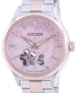 Citizen Automatic Sakura Special Edition Open Heart PC1016-81D Diamond Accents 100M Women's Watch