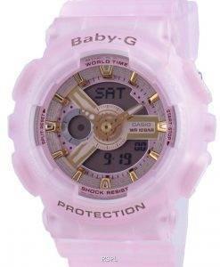 카시오 Baby-G World Time 쿼츠 BA-110SC-4A BA110SC-4A 100M 여성용 시계