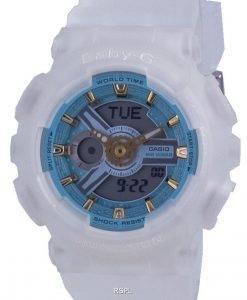 카시오 Baby-G World Time 쿼츠 BA-110SC-7A BA110SC-7A 100M 여성용 시계