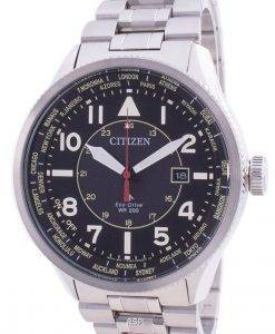 Citizen Promaster Nighthawk World Time Eco-Drive BX1010-53E 200M Mens Watch