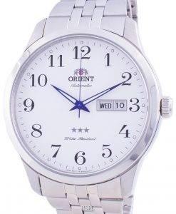 Orient Tri Star White Dial Automatic FAB0B002W9 Men's Watch