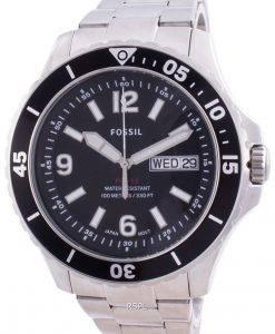 Fossil FB-02 Black Dial Stainless Steel Quartz FS5687 100M Men's Watch