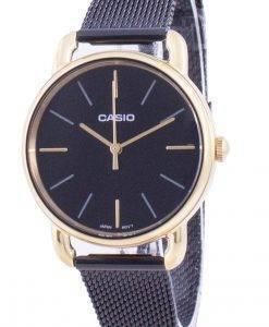 카시오 검은 색 다이얼 쿼츠 LTP-E412MGB-1A LTPE412MGB-1A 여성용 시계