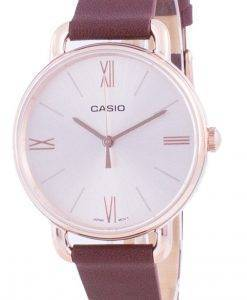 Casio Rose Gold Tone 다이얼 쿼츠 LTP-E414PL-5A LTPE414PL-5A 여성용 시계