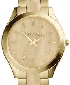 마이클 코어스 활주로 골드 톤 호른 다이얼 MK4285 여자의 시계