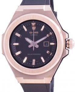 카시오 Baby-G 블랙 다이얼 Solar MSG-S500G-1A MSGS500G-1A 100M 여성용 시계
