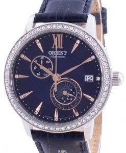 Orient Sun  Moon Phase Diamond Accents Automatic Japan Made RA-AK0006L00C Womens Watch