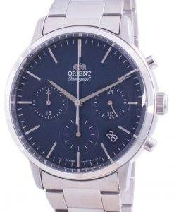Orient Contemporary Chronograph Blue Dial Quartz RA-KV0301L10B Men's Watch
