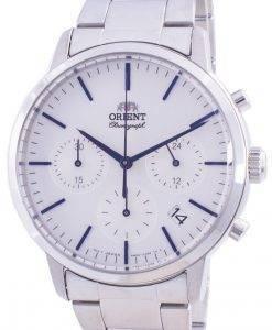 Orient Contemporary Chronograph White Dial Quartz RA-KV0302S10B Men's Watch