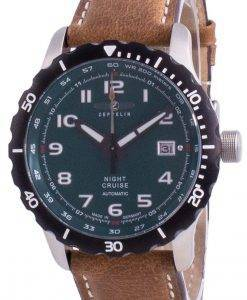Zeppelin Night Cruise Green Dial Automatic 7264-3 72643 200M Men's Watch