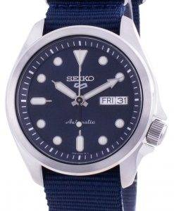 Seiko 5 Sports Blue Dial Nylon Strap Automatic SRPE63 SRPE63K1 SRPE63K 100M Men's Watch