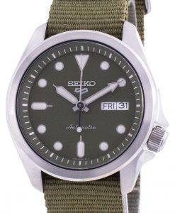 Seiko 5 Sports Green Dial Nylon Strap Automatic SRPE65 SRPE65K1 SRPE65K 100M Men's Watch