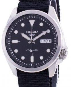 Seiko 5 Sports Black Dial Nylon Strap Automatic SRPE67 SRPE67K1 SRPE67K 100M Men's Watch