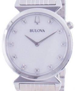 Bulova 클래식 다이아몬드 악센트 쿼츠 96P216 여성용 시계