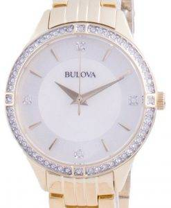 Bulova 다이아몬드 악센트 쿼츠 98L274 여성용 시계