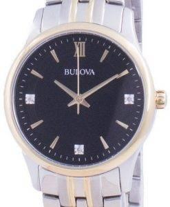 Bulova 다이아몬드 악센트 쿼츠 98P196 여성용 시계