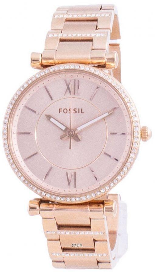 Fossil Carlie 다이아몬드 악센트 쿼츠 ES4301 여성용 시계