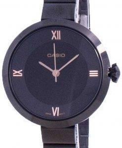 카시오 아날로그 블랙 다이얼 LTP-E154B-1A LTPE154B-1A 여성용 시계