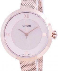 카시오 아날로그 핑크 다이얼 LTP-E154MPG-4A LTPE154MPG-4A 여성용 시계