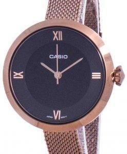 카시오 아날로그 블랙 다이얼 LTP-E154MR-1A LTPE154MR-1A 여성용 시계