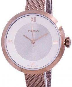 카시오 아날로그 실버 다이얼 LTP-E154MR-9A LTPE154MR-9A 여성용 시계