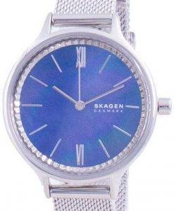 Skagen Anita Blue Mother Of Pearl 다이얼 쿼츠 SKW2862 여성용 시계