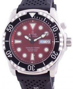 무료 다이버 헬륨 안전 1000M 사파이어 오토매틱 1068HA90-34VA-RED 남성용 시계