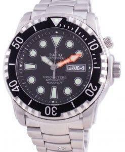 비율 무료 다이버 헬륨 안전 1000M 사파이어 오토매틱 1068HA96-34VA-BLK 남자 시계