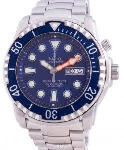 무료 다이버 헬륨 안전 1000M 사파이어 오토매틱 1068HA96-34VA-BLU 남성용 시계
