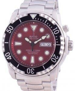 무료 다이버 헬륨 안전 1000M 사파이어 오토매틱 1068HA96-34VA-RED 남성용 시계