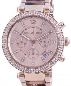 Michael Kors Parker 다이아몬드 악센트 쿼츠 MK6832 여성용 시계