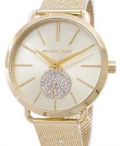 리퍼 비쉬 Michael Kors Portia 쿼츠 다이아몬드 악센트 MK3844 여성용 시계