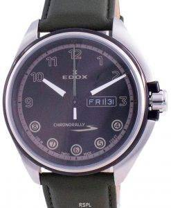 Edox Chronorally-S Day Date Quartz 843013NCVNNV 84301 3NCV NNV 100M Men's Watch