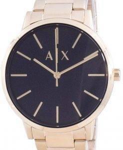 Armani Exchange 검은 색 다이얼 쿼츠 AX7119 남성용 시계