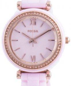 Fossil Carlie Mini 다이아몬드 악센트 쿼츠 CE1106 여성용 시계