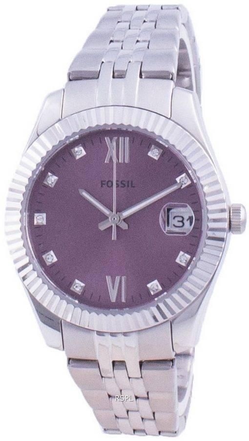 화석 스칼렛 미니 다이아몬드 악센트 쿼츠 ES4905 여성용 시계