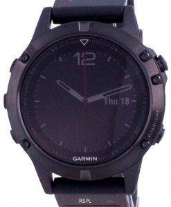 Garmin Forerunner Fenix 5 Outdoor Fitness GPS Schwarzer Saphir mit schwarzem Band 010-01688-11 Multisportuhr