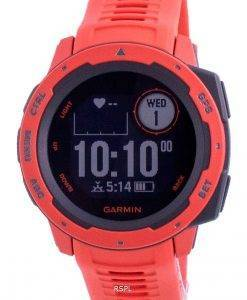 Garmin Instict Flame Red Outdoor-Fitness-GPS mit rotem Band 010-02064-02 Multisport-Uhr