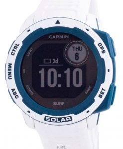 Garmin Instinct Solar Surf Edition Fitness GPS Weißes Silikonband 010-02293-08 Multisportuhr