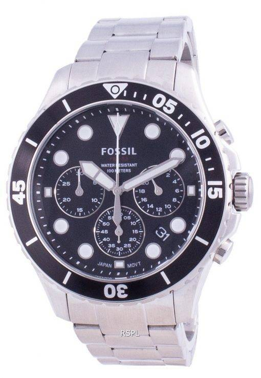 Fossiler FB-03 Chronograph Edelstahl Quarz FS5725 100M Herrenuhr