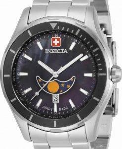 Invicta Pro Diver Mondphase Schwarzes Zifferblatt Quarz 33462 100M Herrenuhr