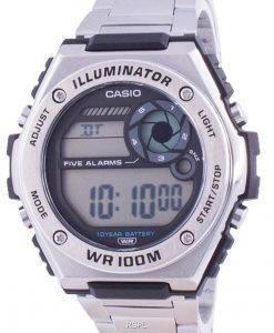Casio Youth Dual Time MWD-100HD-1A MWD100HD-1 100M Herrenuhr