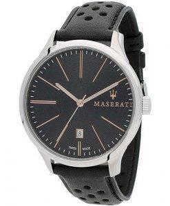 Maserati Attrazione 검은 색 다이얼 쿼츠 R8851126003100M 남성용 시계