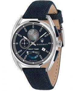 Maserati Trimarano Yacht Timer 크로노 그래프 쿼츠 R8851132001 100M 남성용 시계