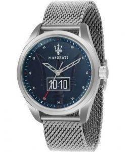 마세라티 Traguardo 블루 다이얼 쿼츠 R8853112002100M 남성용 시계