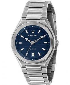 마세라티 Triconic 블루 다이얼 쿼츠 R8853139002100M 남성용 시계