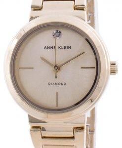 Anne Klein 진품 다이아몬드 3528CHGB 쿼츠 여성용 시계